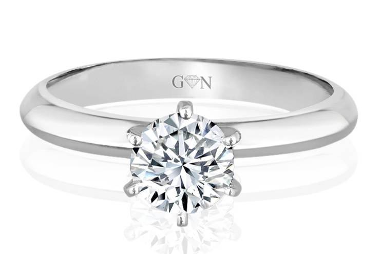 Ladies Solitaire Design Engagement Ring - R647 - GN Designer Jewellers