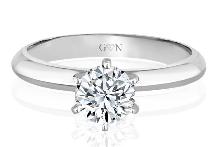 Ladies Solitaire Design Engagement Ring - R647 - GN Designer Jewellers