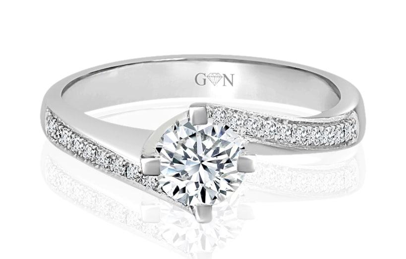 Ladies Multi Set Engagement Ring - R649 - GN Designer Jewellers