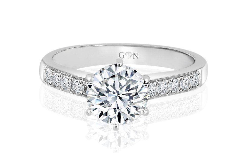 Ladies Multi Set Engagement Ring - R652 - GN Designer Jewellers
