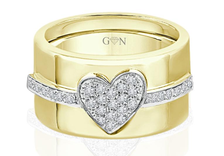 Ladies Multi Set Design Celebration Ring - R655 - GN Designer Jewellers