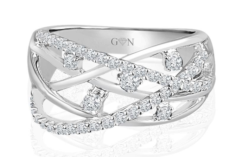 Ladies Multi Set Design Celebration Ring - R659 - GN Designer Jewellers