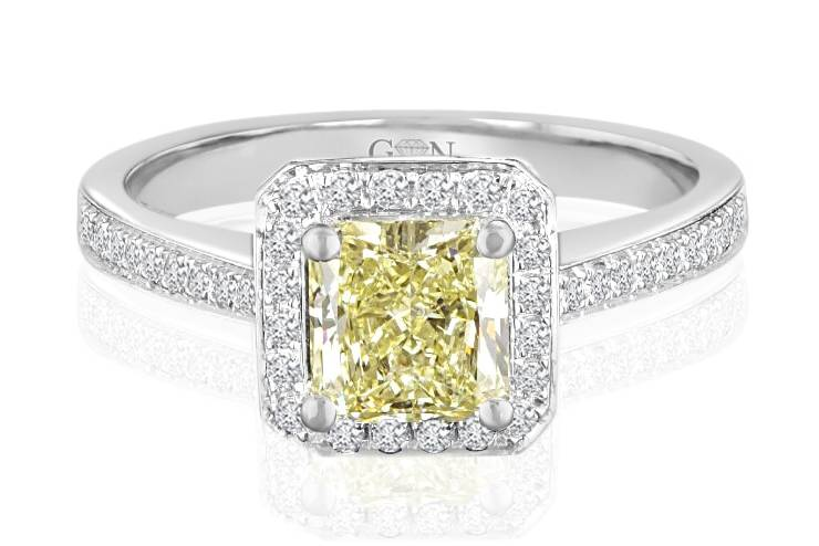 Ladies Halo Design Engagement Ring - R662 - GN Designer Jewellers