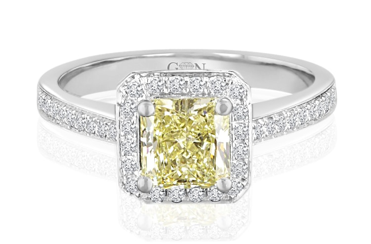 Ladies Halo Design Engagement Ring - R662 - GN Designer Jewellers