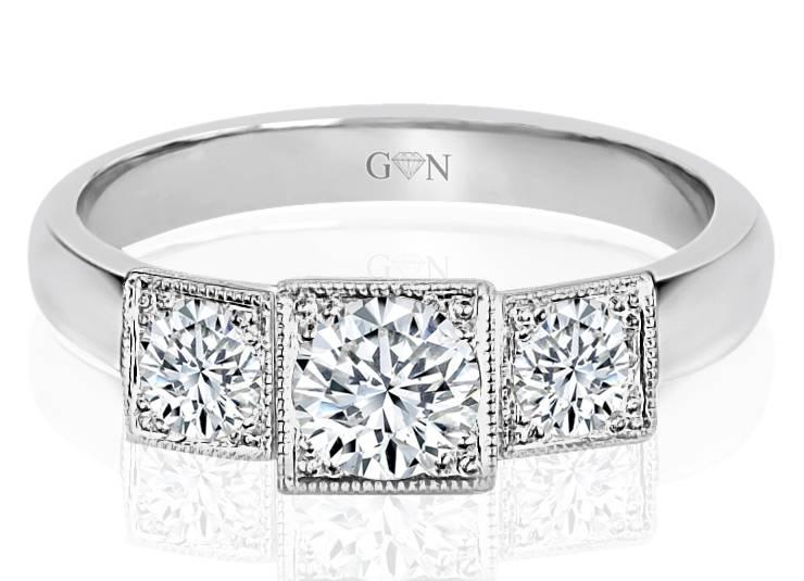 Three Stone Design Engagement Ring R1100 - GN Designer Jewellers