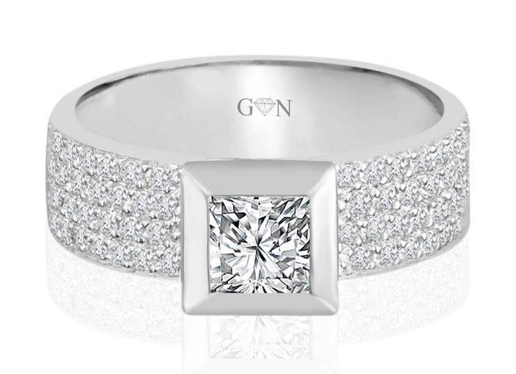 Ladies Halo Design Engagement Ring - R667 - GN Designer Jewellers