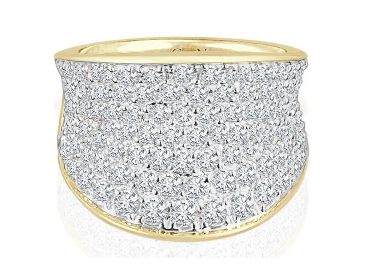 Ladies Multi Set Design Celebration Ring - R68 - GN Designer Jewellers