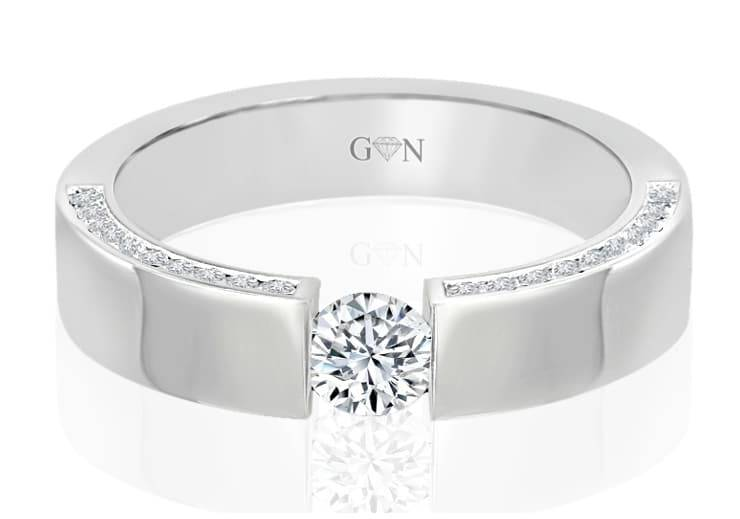 Ladies Multi Set Engagement Ring - R682 - GN Designer Jewellers