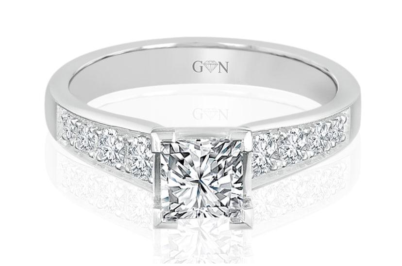 Ladies Multi Set Engagement Ring - R684 - GN Designer Jewellers