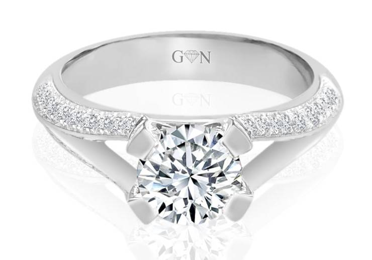 Ladies Multi Set Engagement Ring - R722 - GN Designer Jewellers
