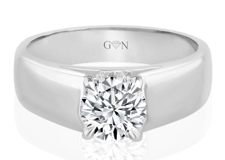 Ladies Solitaire Design Engagement Ring - R723 - GN Designer Jewellers