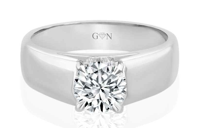 Ladies Solitaire Design Engagement Ring - R723 - GN Designer Jewellers