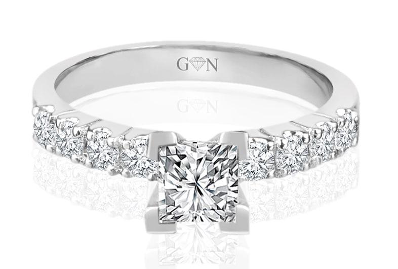 Ladies Multi Set Engagement Ring - R733 - GN Designer Jewellers