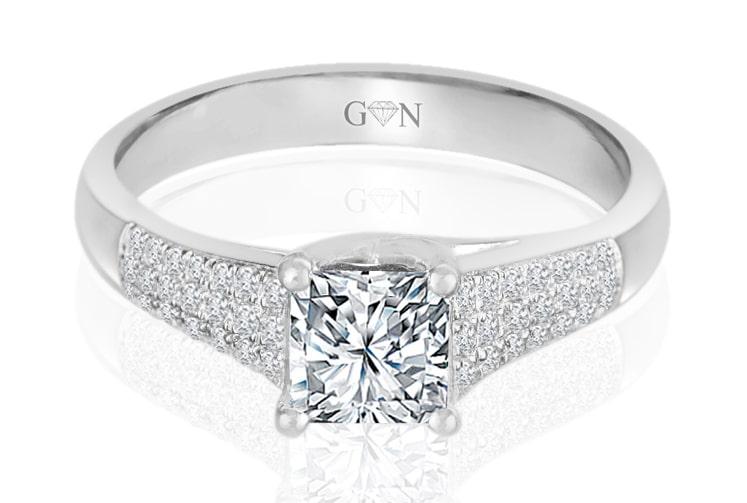 Ladies Multi Set Engagement Ring - R735 - GN Designer Jewellers