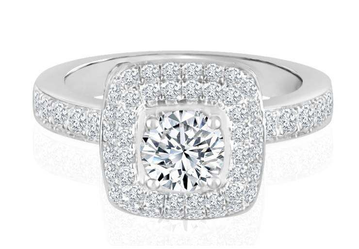 Ladies Halo Design Engagement Ring - R737 - GN Designer Jewellers