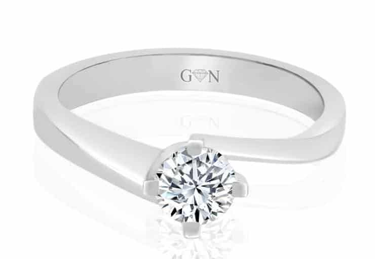 Ladies Solitaire Design Engagement Ring - R746 - GN Designer Jewellers