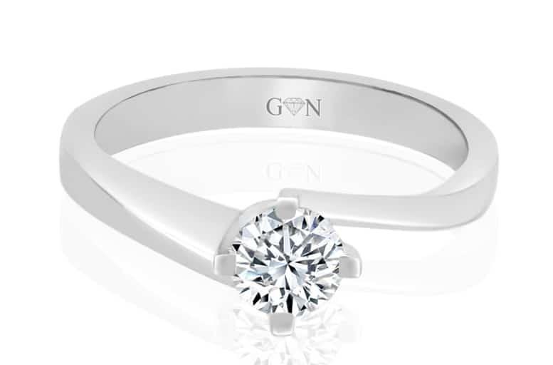 Ladies Solitaire Design Engagement Ring - R746 - GN Designer Jewellers