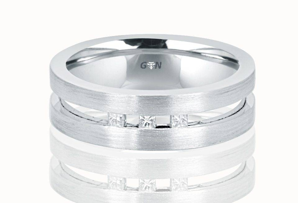 Gents Diamond Ring - R753 - GN Designer Jewellers