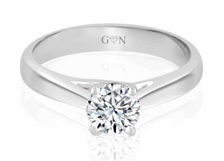 Ladies Solitaire Design Engagement Ring - R755 - GN Designer Jewellers