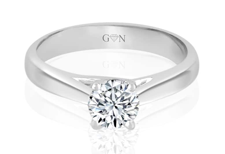 Ladies Solitaire Design Engagement Ring - R755 - GN Designer Jewellers