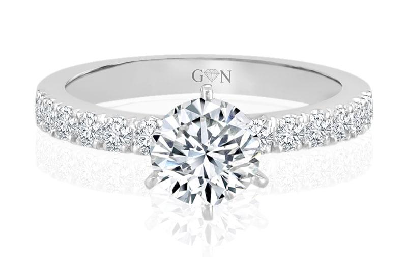 Ladies Multi Set Engagement Ring - R765 - GN Designer Jewellers