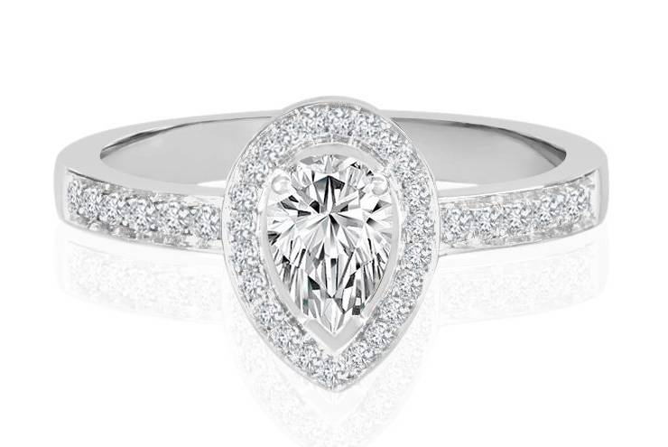 Ladies Halo Design Engagement Rings - R768 - GN Designer Jewellers