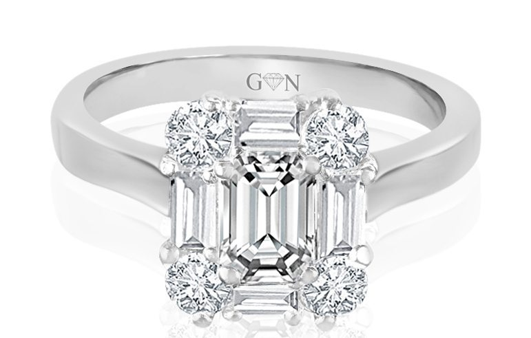 Ladies Halo Design Engagement Ring - R770 - GN Designer Jewellers