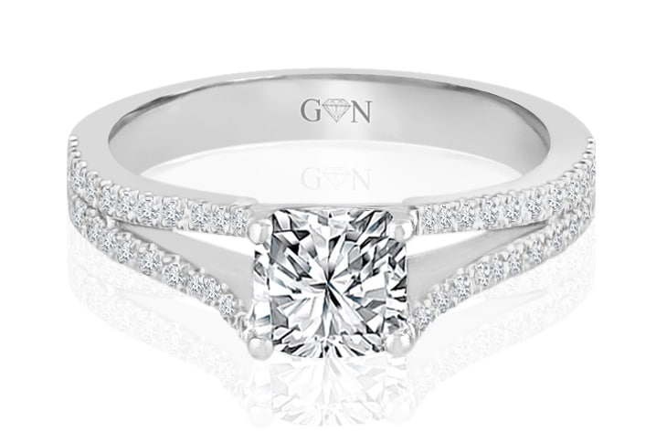Ladies Multi Set Engagement Ring - R798 - GN Designer Jewellers