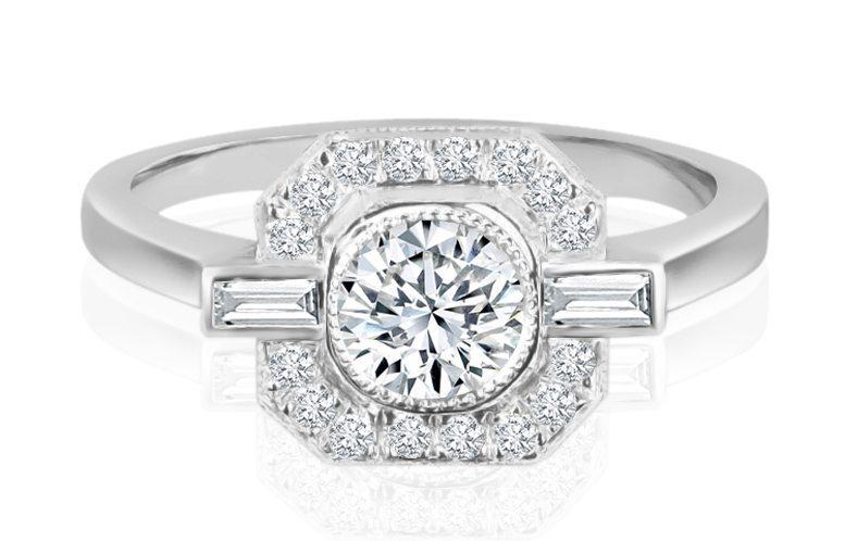 Ladies Halo Design Engagement Ring - R805 - GN Designer Jewellers