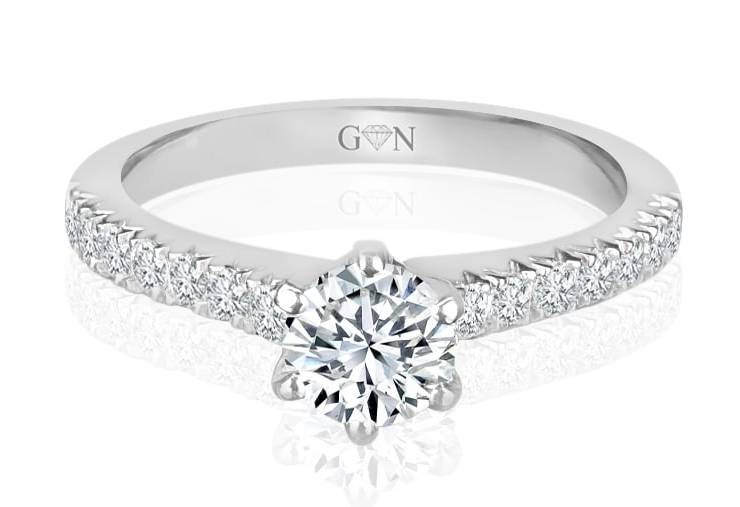 Ladies Solitaire Multi Band Engagement Ring - R807 - GN Designer Jewellers