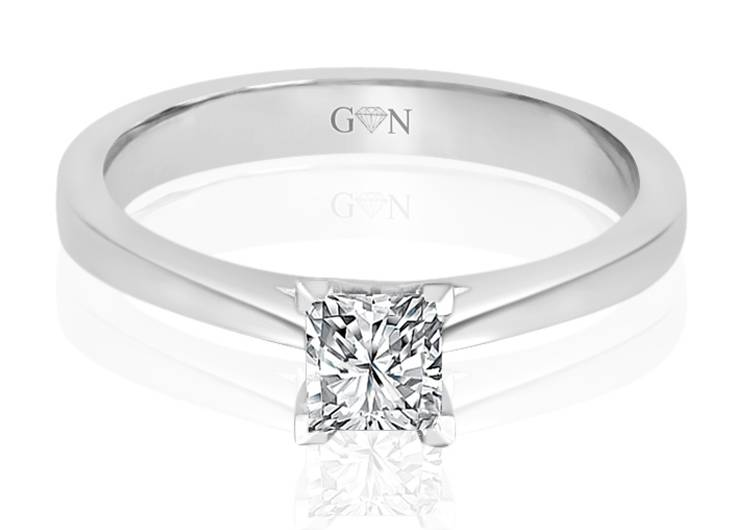 Ladies Solitaire Design Engagement Ring - R815 - GN Designer Jewellers