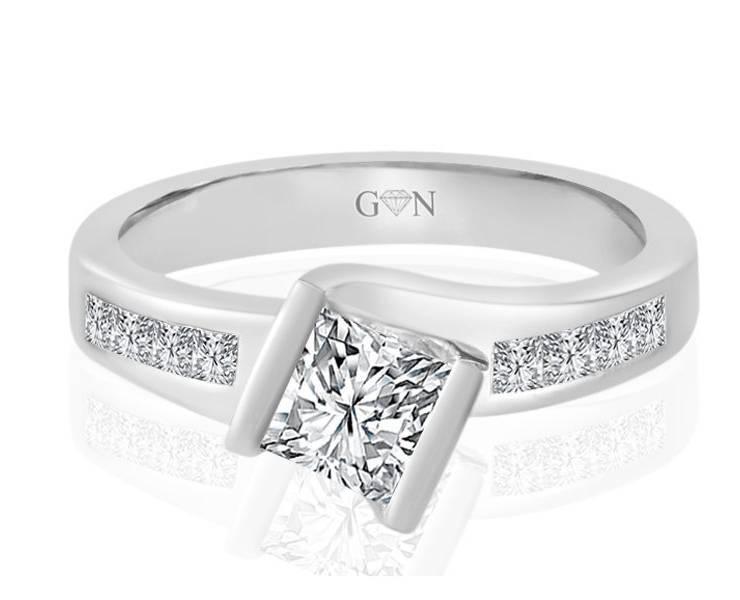 Ladies Multi Set Engagement Ring - R817 - GN Designer Jewellers