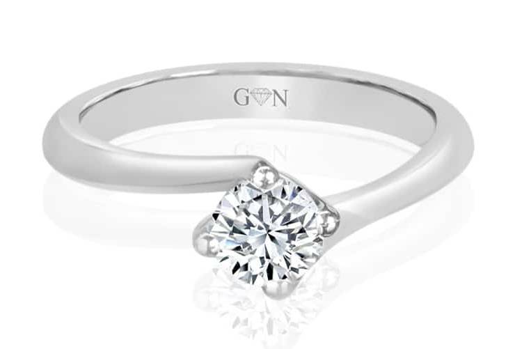 Ladies Solitaire Design Engagement Ring - R819 - GN Designer Jewellers