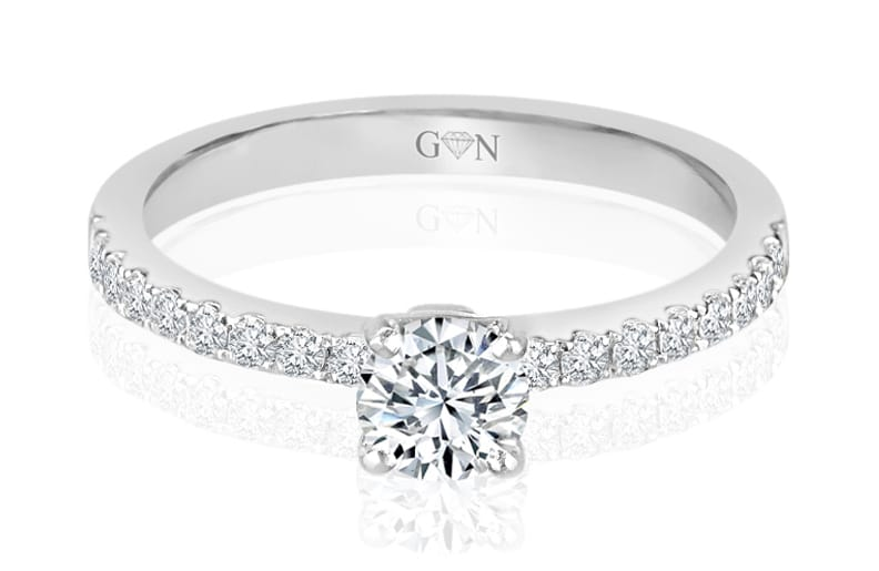 Ladies Muli Set Engagement Ring - R822 - GN Designer Jewellers