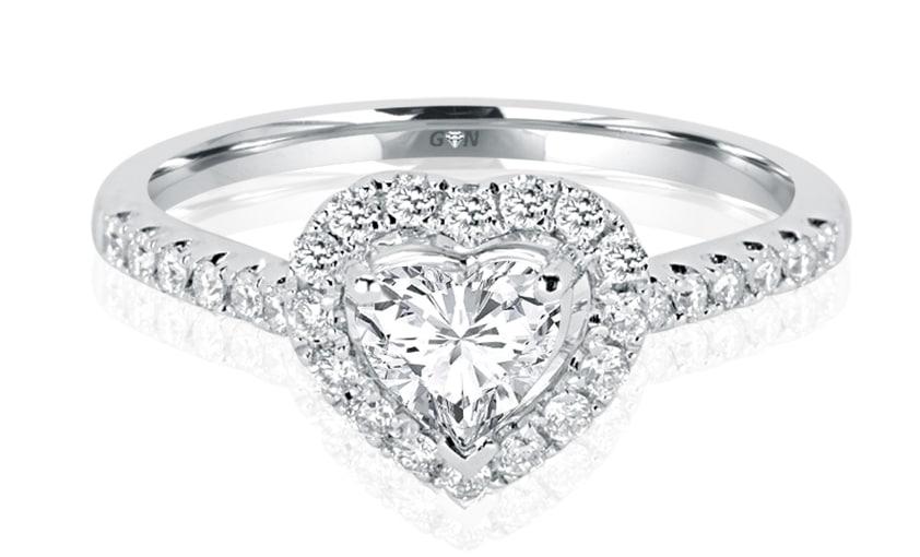 Ladies Halo Design Engagement Ring - R832 - GN Designer Jewellers