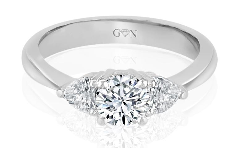 Ladies Three Stone Design Engagement Ring - R835 - GN Designer Jewellers