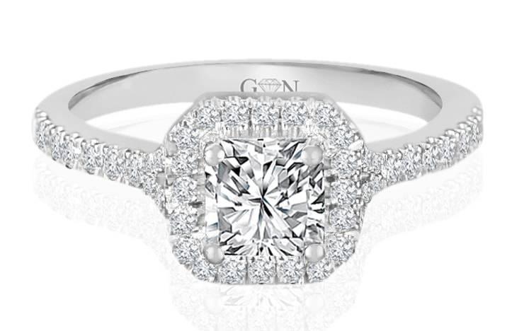 Ladies Halo Design Engagement Ring - R841 - GN Designer Jewellers
