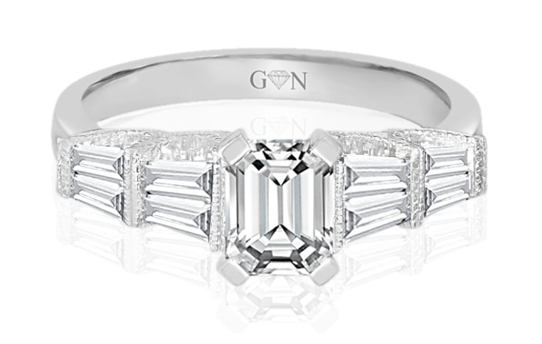 Ladies Multi Set Engagement Ring - R851 - GN Designer Jewellers