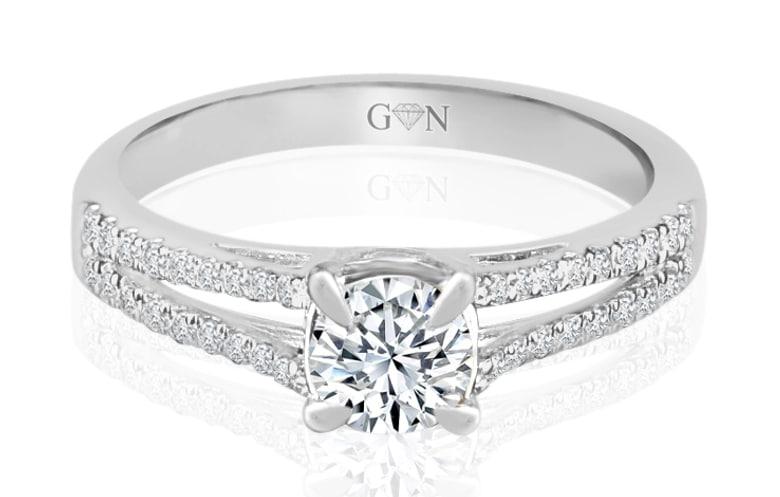 Ladies Multi Set Engagement Ring - R854 - GN Designer Jewellers