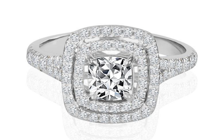 Ladies Halo Design Engagement Ring - R871 - GN Designer Jewellers