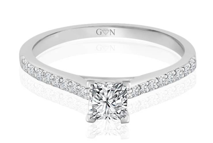 Ladies Multi Set Engagement Ring - R874 - GN Designer Jewellers