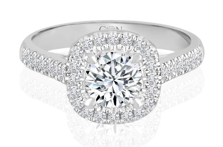 Ladies Halo Design Engagement Rings - R877 - GN Designer Jewellers