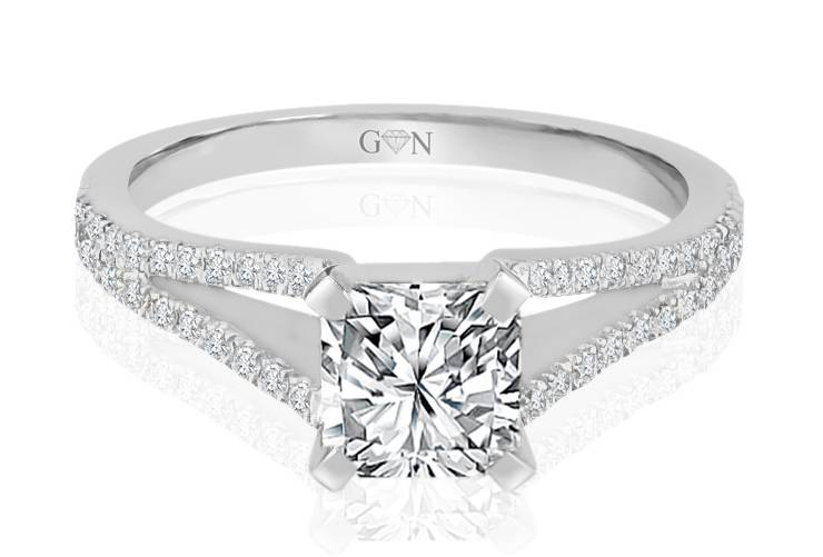 Ladies Multi Set Engagement Ring - R894 - GN Designer Jewellers