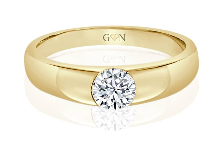 Ladies Solitaire Design Engagement Ring - R9 - GN Designer Jewellers