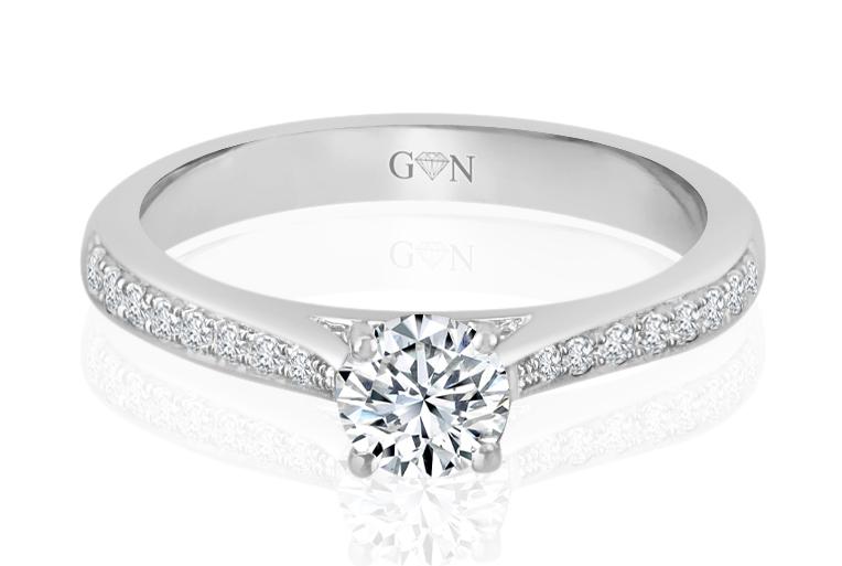 Ladies Multi Set Engagement Ring - R935 - GN Designer Jewellers