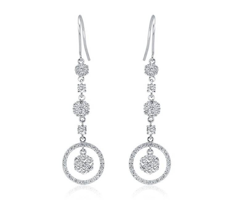 Diamond Earrings - DE272 - GN Designer Jewellers