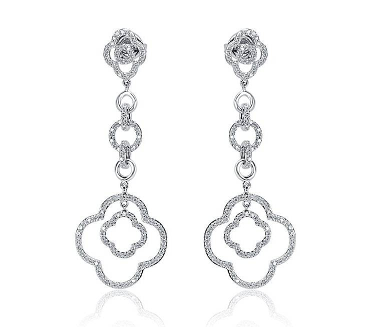 Diamond Earrings - DE786 - GN Designer Jewellers