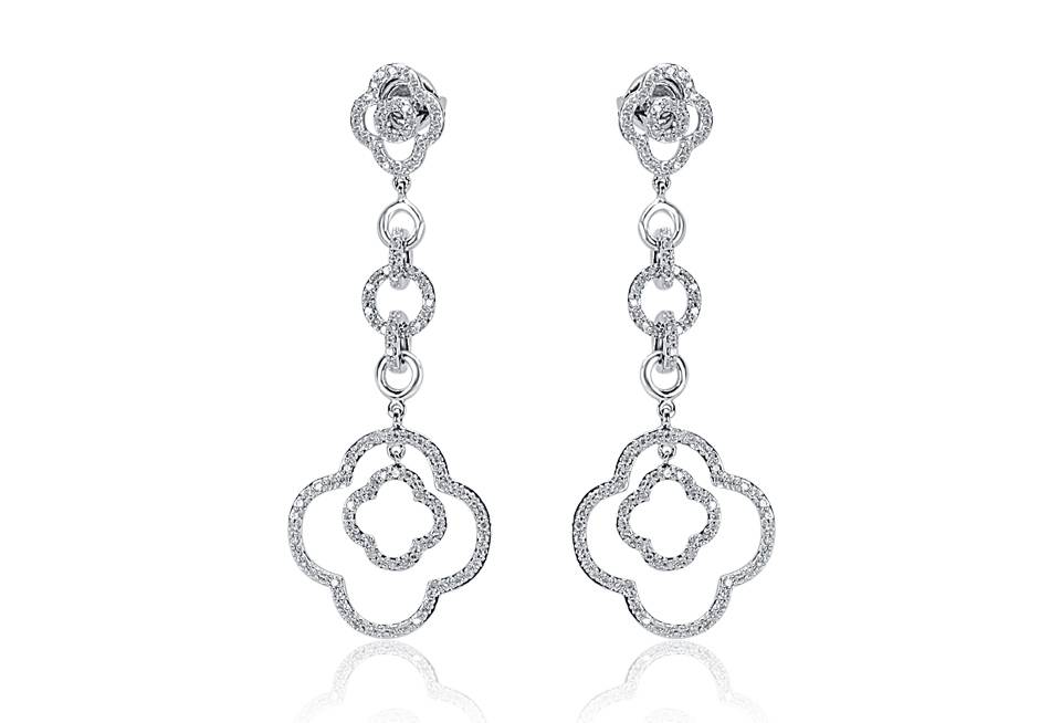 Diamond Earrings - DE786 - GN Designer Jewellers