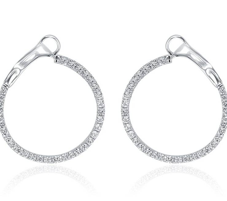 Diamond Earrings - DE800 - GN Designer Jewellers