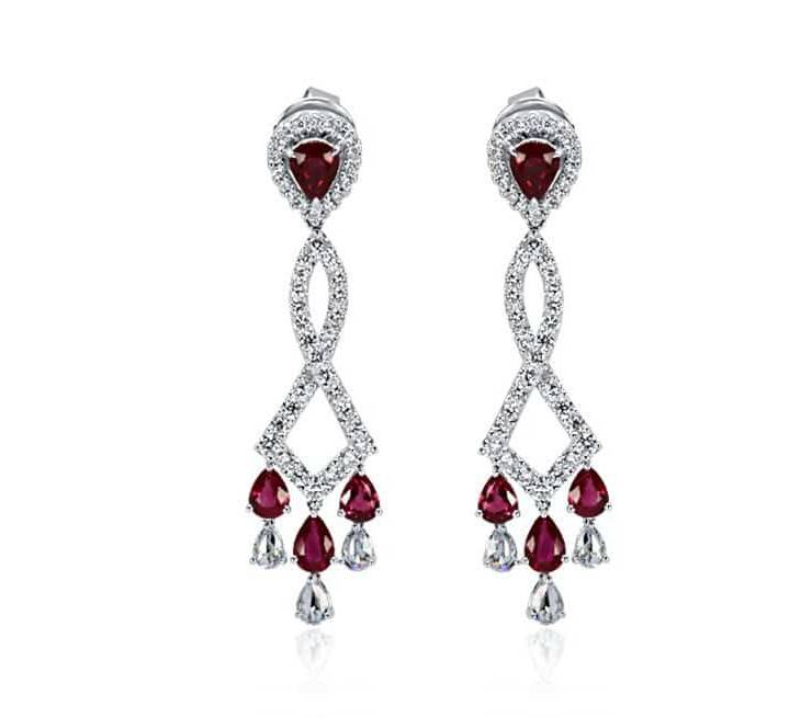 Ladies Diamond Earrings - DE82 - GN Designer Jewellers